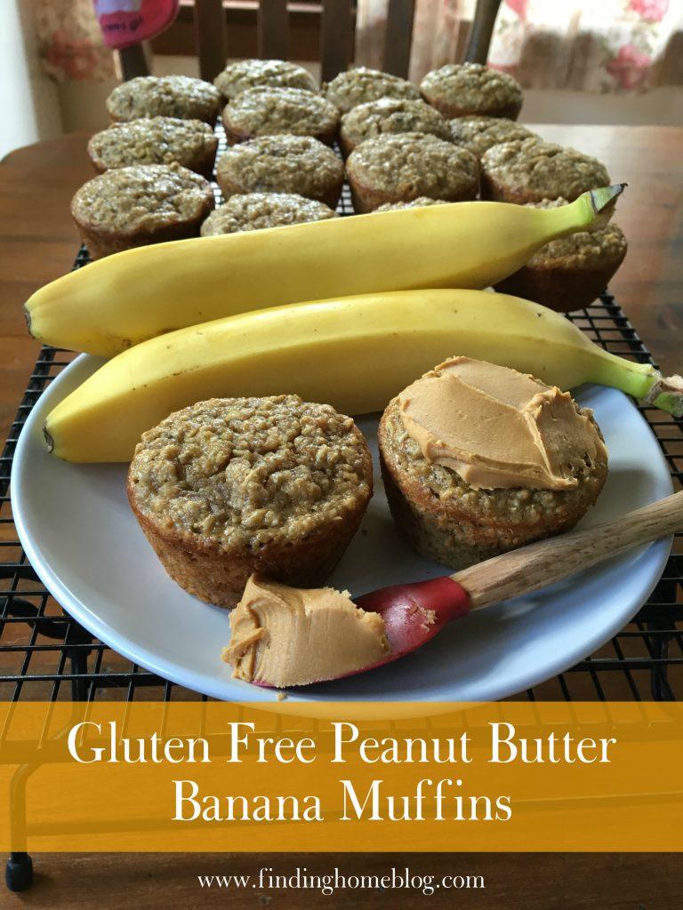 Gluten Free Peanut Butter Banana Muffins | Finding Home Blog