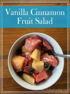 Vanilla Cinnamon Fruit Salad