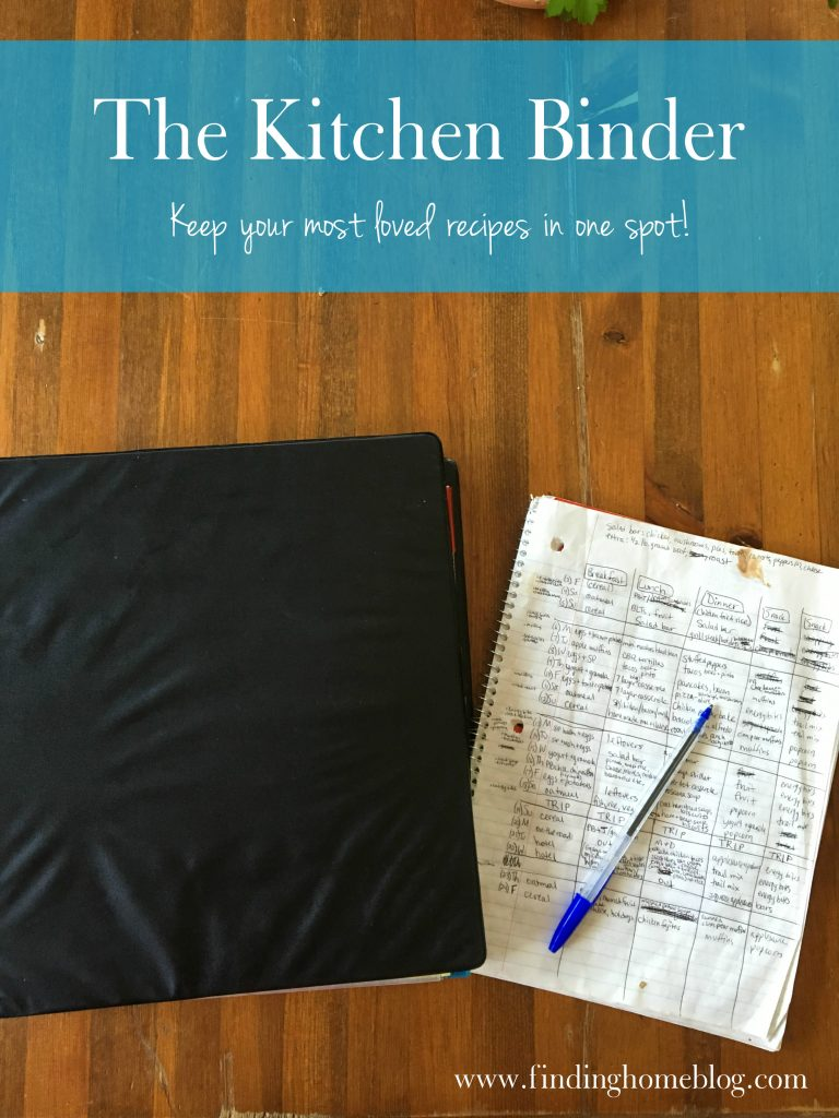 Kitchen Binder | Finding Home Blog