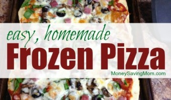 How We Use Money Saving Mom's Pizza Dough Recipe To Make Easy Frozen Pizza