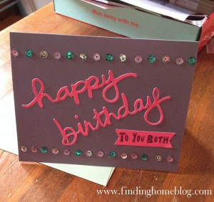 Happy Birthday Card   Finding Home Blog