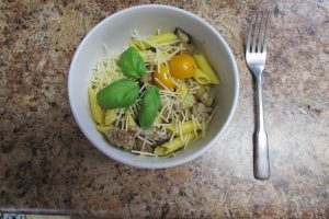 Sausage and Roasted Eggplant Pasta | Finding Home Blog