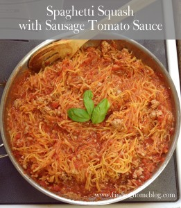Spaghetti Squash with Sausage Tomato Sauce | Finding Home Blog
