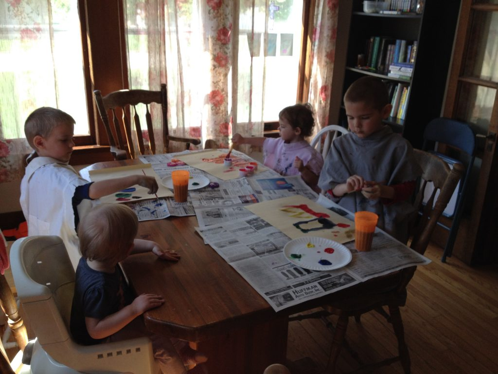 Kids Painting | Finding Home Blog