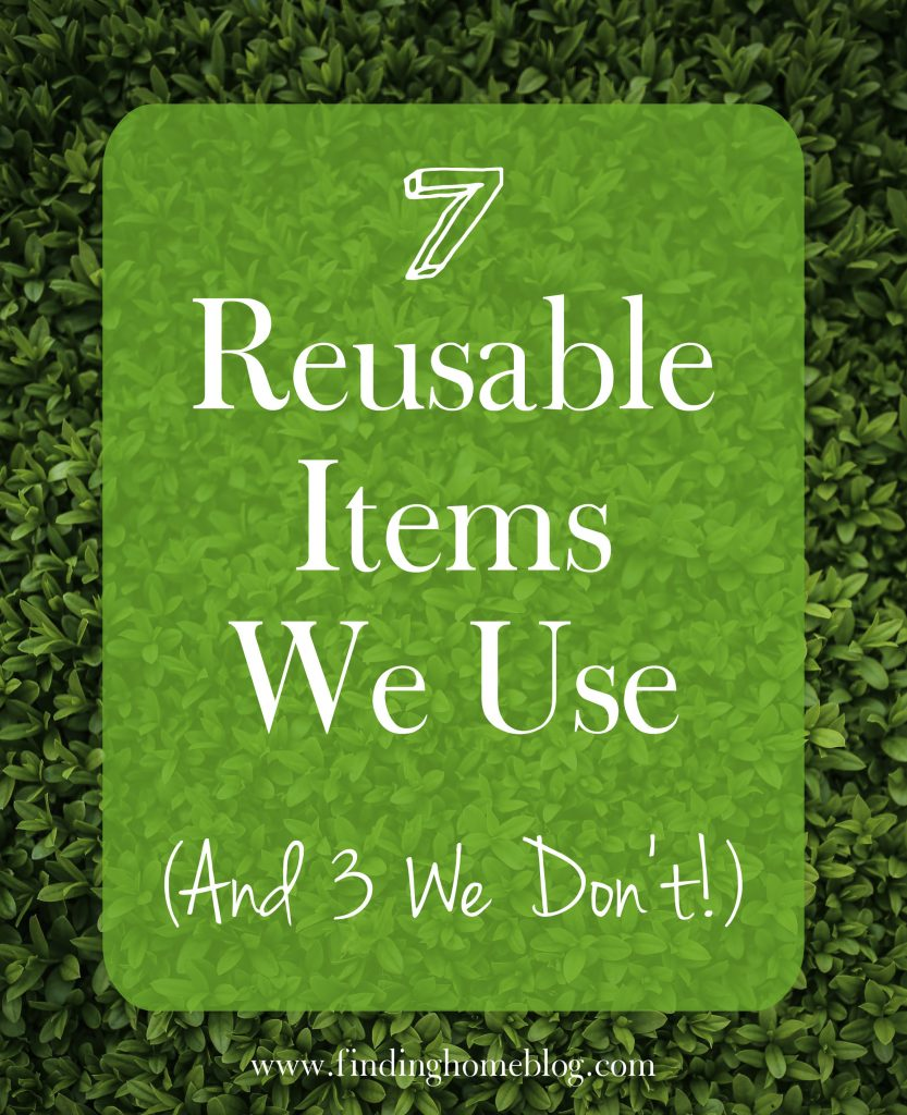 7 Reusable Items We Use | Finding Home Blog