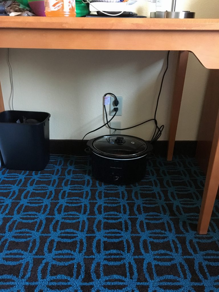 Crockpot Hotel Room   Finding Home Blog