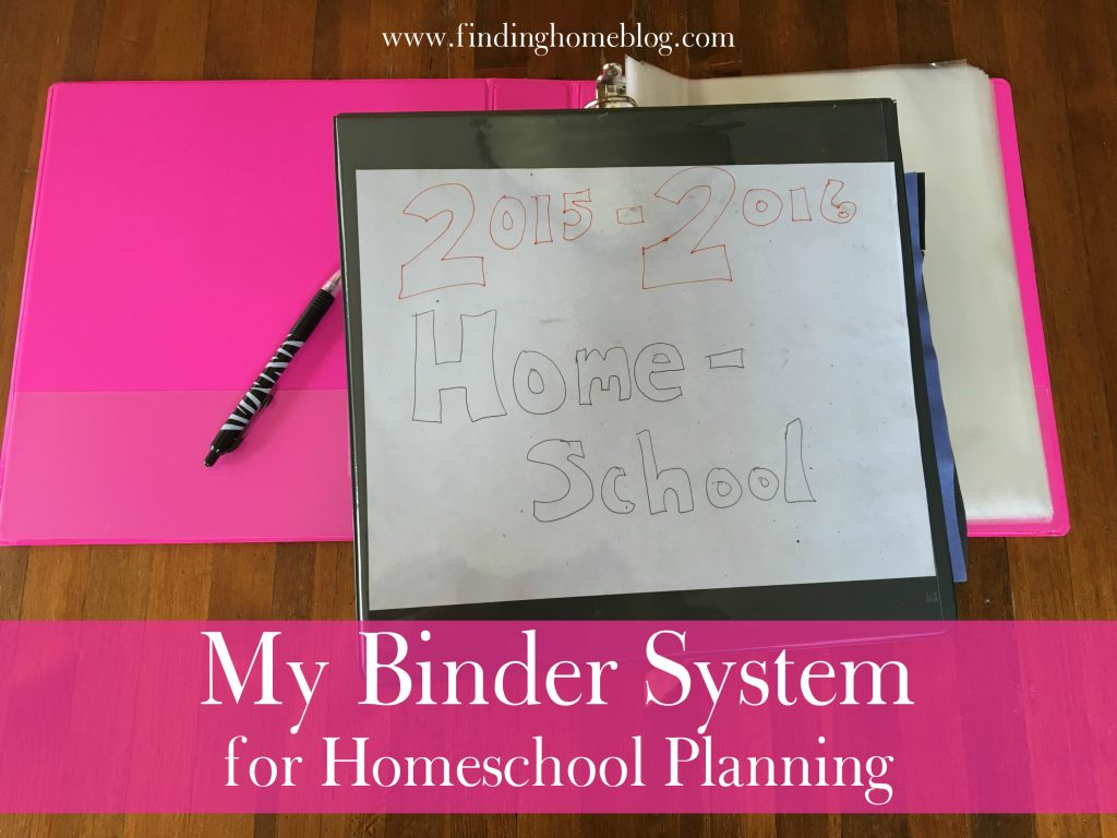 My Binder System for Homeschool Planning   Finding Home Blog