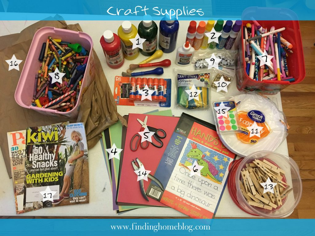Craft Supplies | Finding Home Blog