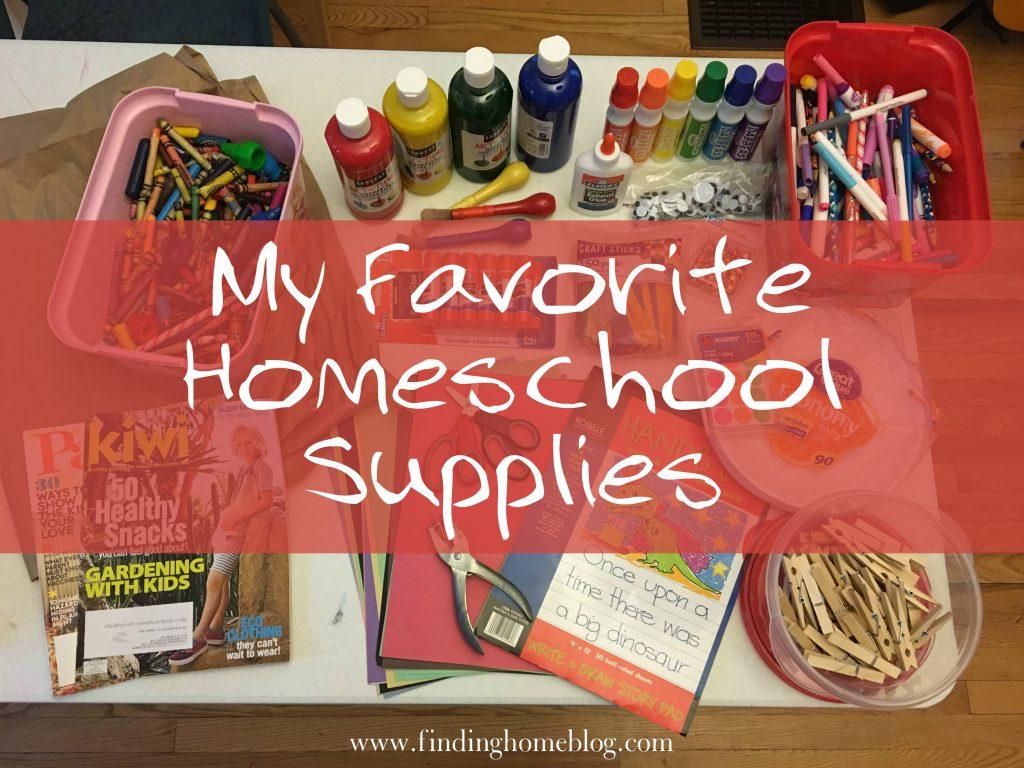 My Favorite Homeschool Supplies | Finding Home Blog