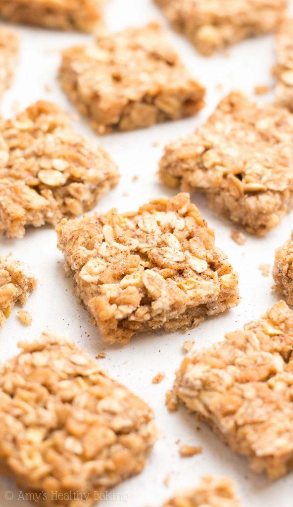 Apple Pie Granola Bar Bites Amys Healthy Baking