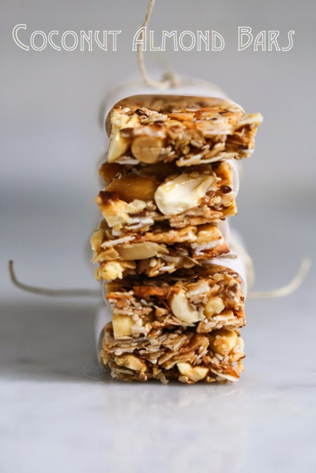 Coconut Almond Bars Feasting at Home