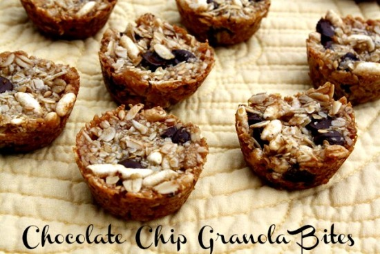 Chocolate Chip Granola Bites Mommys Kitchen