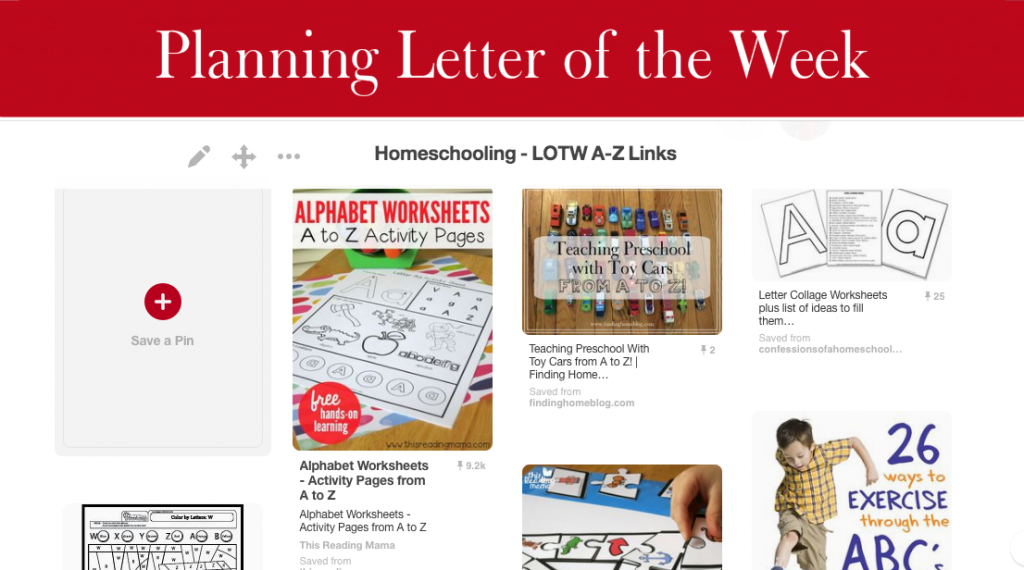 Planning Letter of the Week | Finding Home Blog