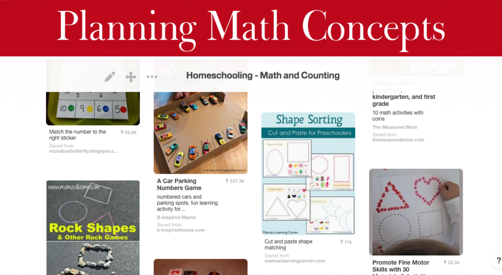 Planning Math Concepts | Finding Home Blog