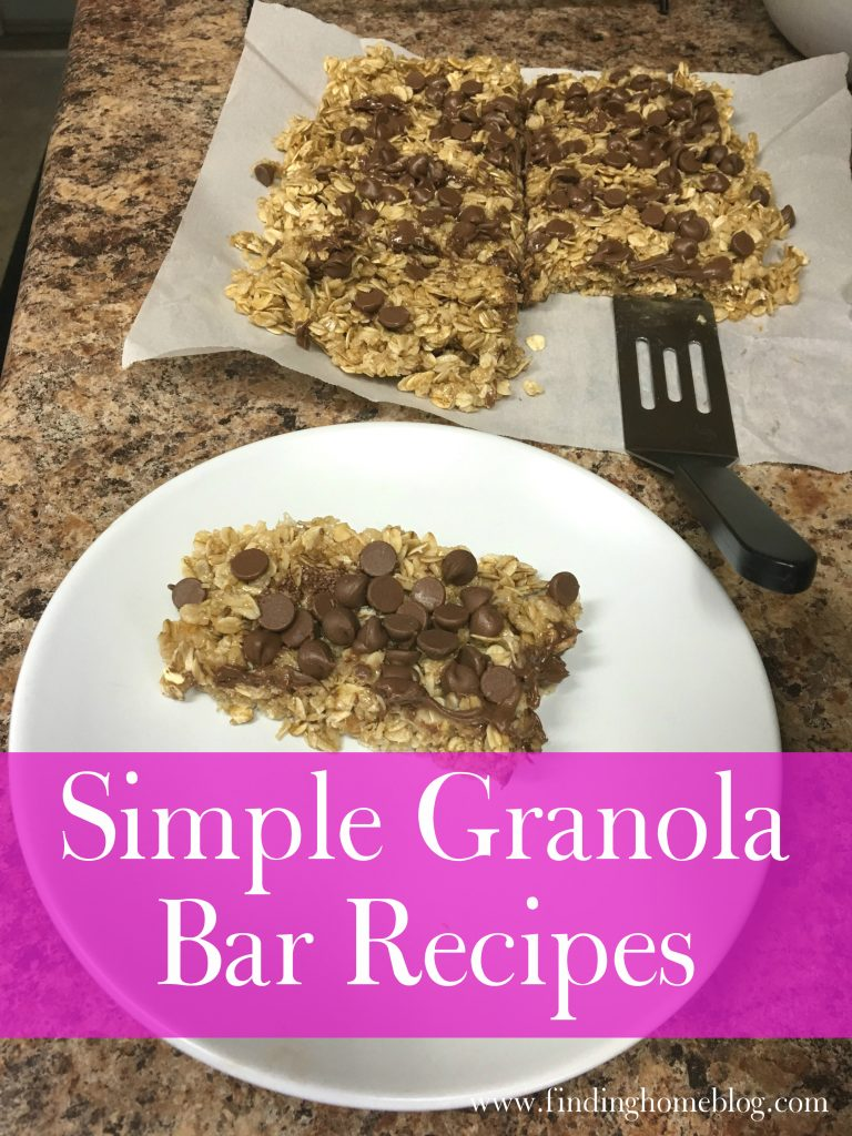 Simple Granola Bar Recipes | Finding Home Blog
