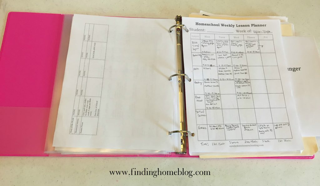 2016-2017 Homeschool Curriculum | Finding Home Blog