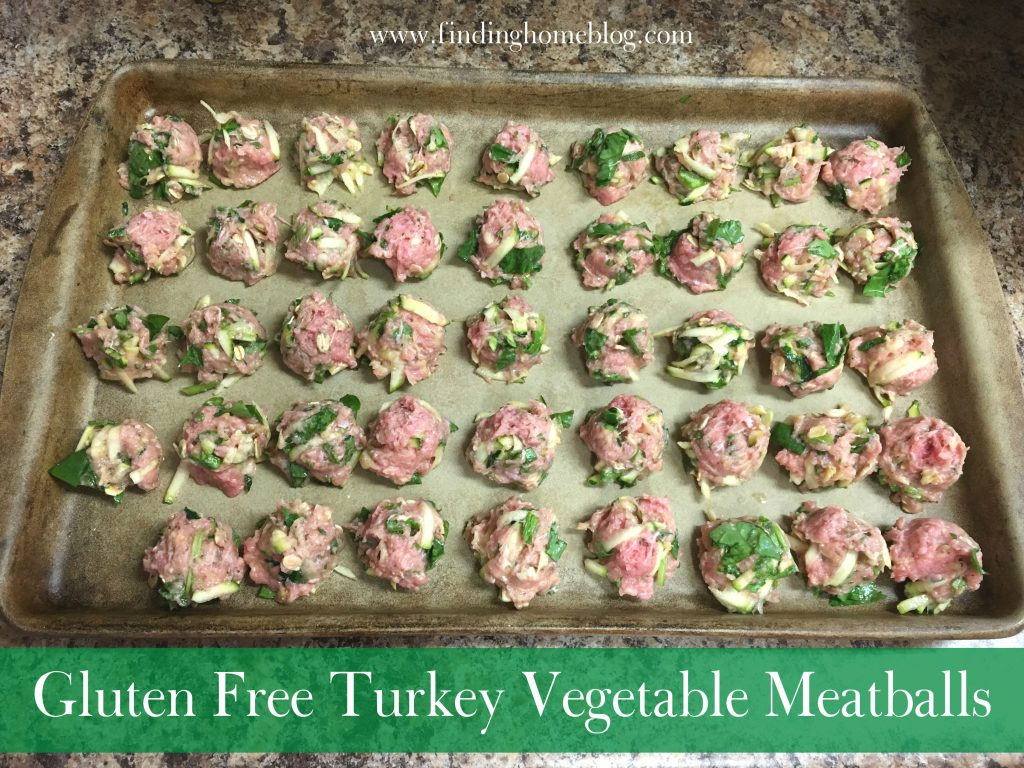 Gluten Free Turkey Vegetable Meatballs | Finding Home Blog