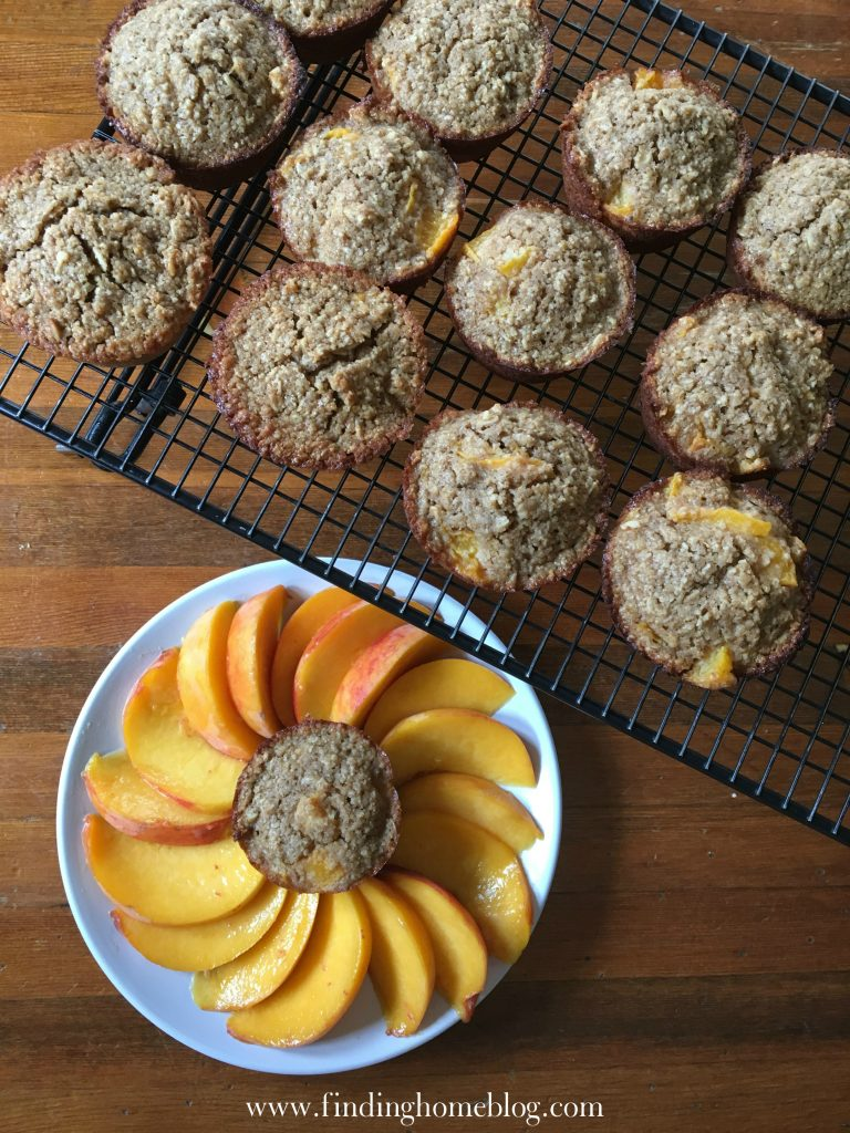 Peach Muffins | Finding Home Blog