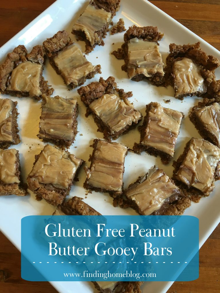 Gluten Free Peanut Butter Gooey Bars | Finding Home Blog