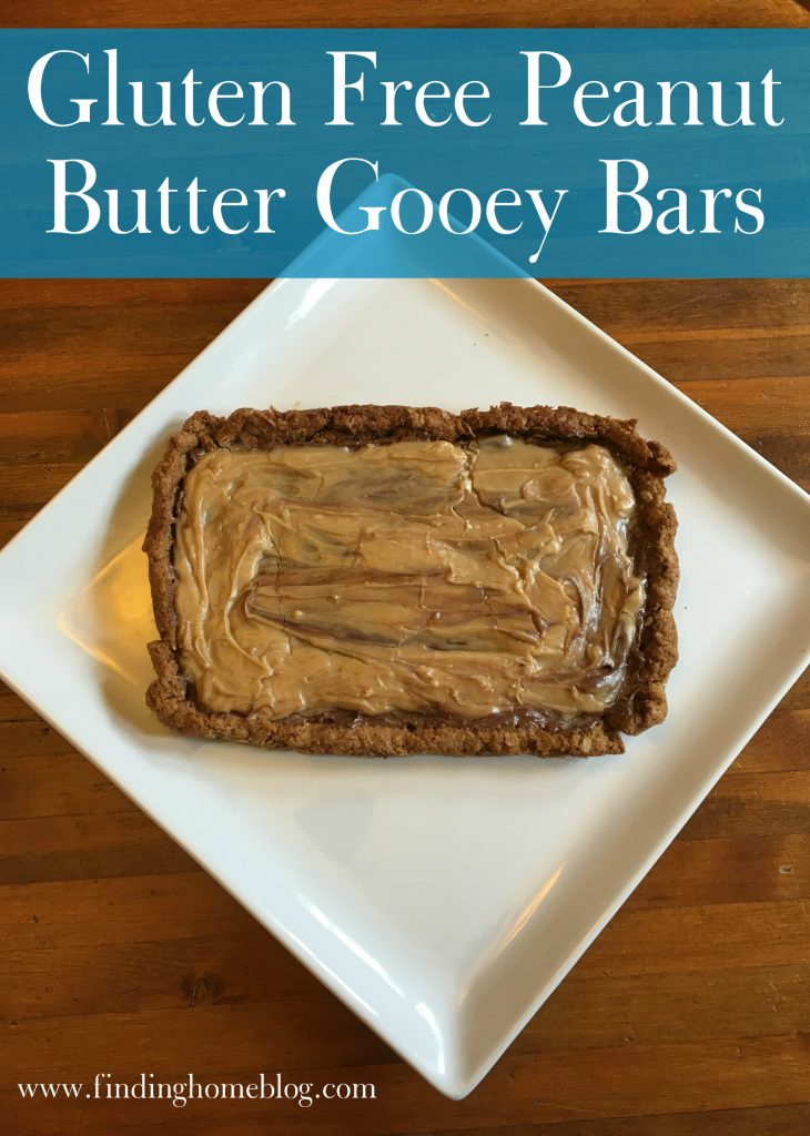Gluten Free Peanut Butter Gooey Bars | Finding Home Blog
