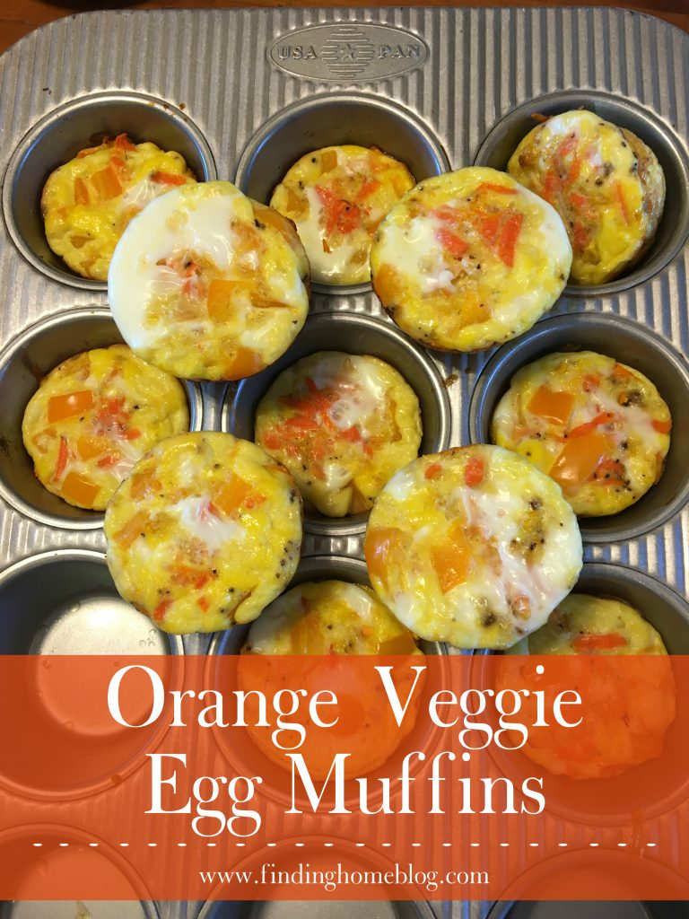 Orange Veggie Egg Muffins | Finding Home Blog