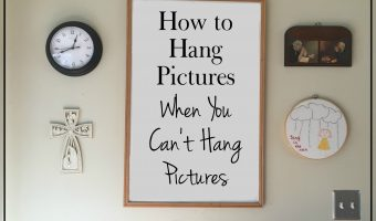 How To Hang Pictures When You Can't Hang Pictures