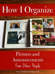 How I Organize Pictures And Announcements From Other People