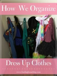 How We Organize Dress Up Clothes