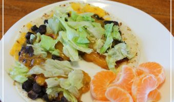 Recipe: Black Bean Tortilla Pizzas