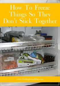 How To Freeze Things So They Don't Stick Together