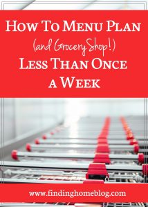 How To Menu Plan And Shop Less Than Once A Week