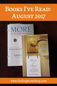 Books I've Read: August 2017