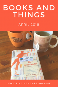 Books And Things: April 2018