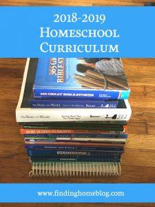 2018-2019 Homeschool Curriculum