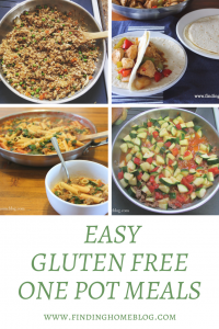 Easy Gluten Free One Pot Meals
