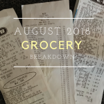 Grocery Breakdown: August 2018
