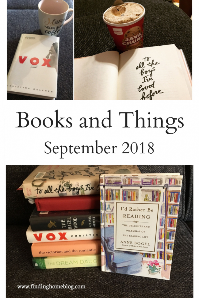Books and Things: September 2018