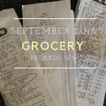 Grocery Breakdown: September 2018