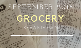 Grocery Breakdown: September 2018