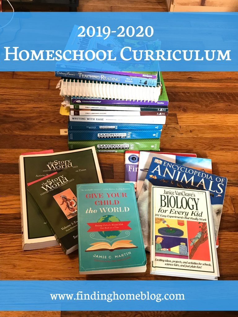 2019-2020 Homeschool Curriculum | Finding Home Blog
