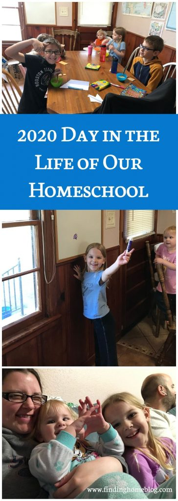 2020 Day in the Life of Our Homeschool | Finding Home Blog