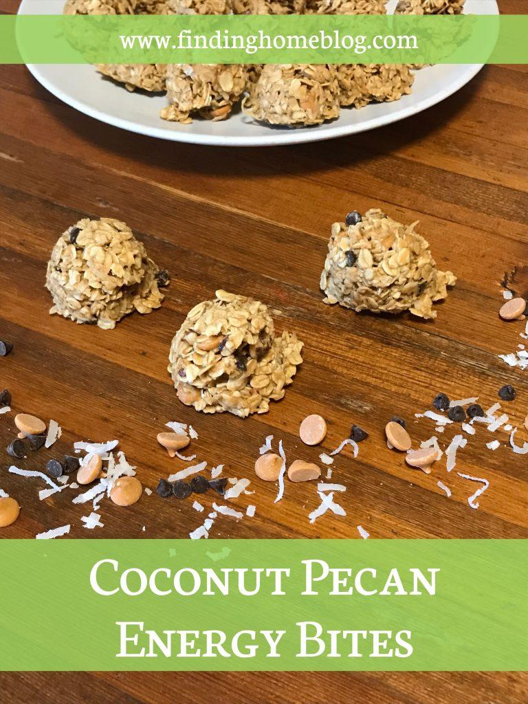Coconut Pecan Energy Bites | Finding Home Blog