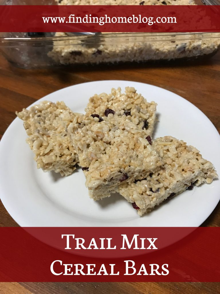 Trail Mix Cereal Bars | Finding Home Blog