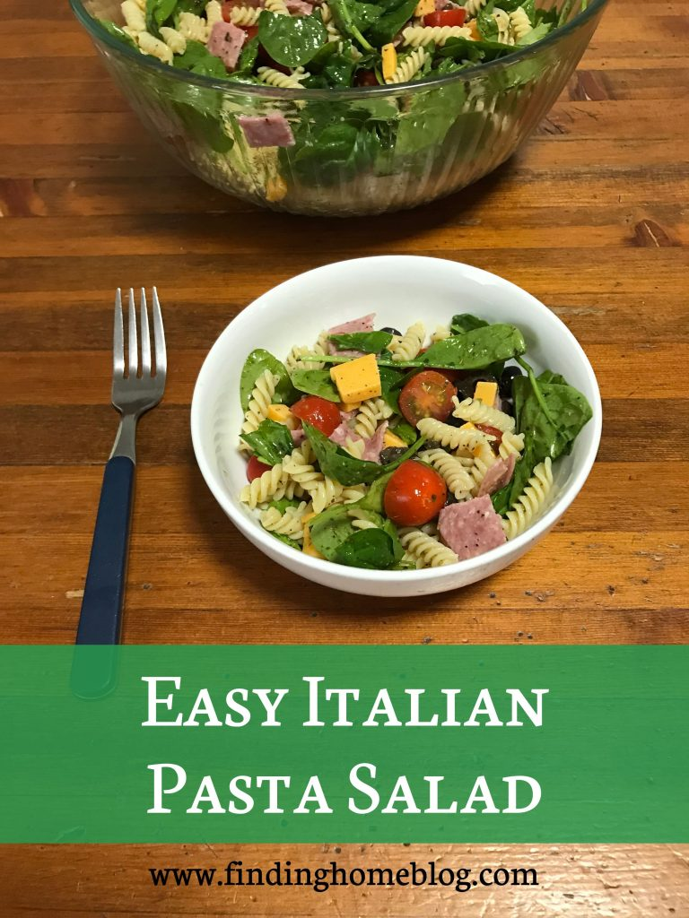 Easy Italian Pasta Salad | Finding Home Blog