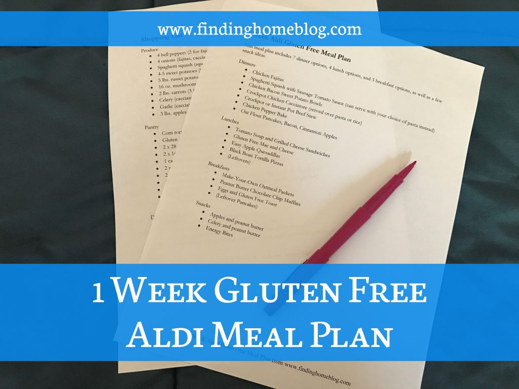 1 Week Gluten Free Aldi Meal Plan | Finding Home Blog