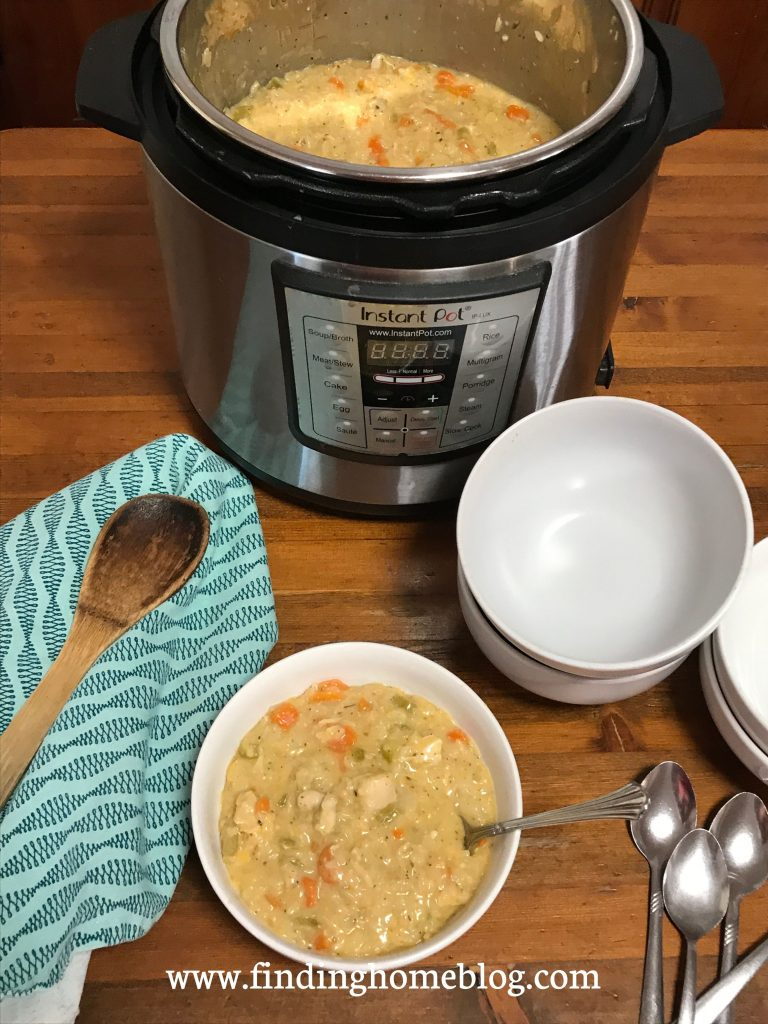 Instant Pot Cheesy Chicken Rice Casserole | Finding Home Blog