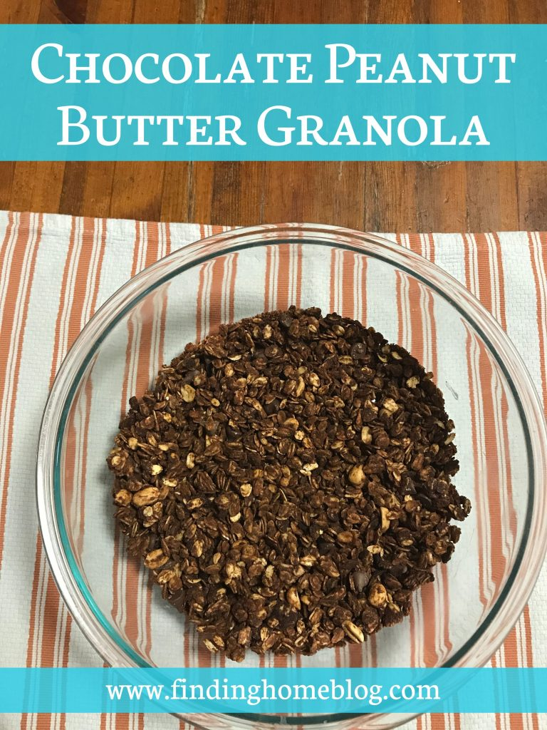 Chocolate Peanut Butter Granola | Finding Home Blog