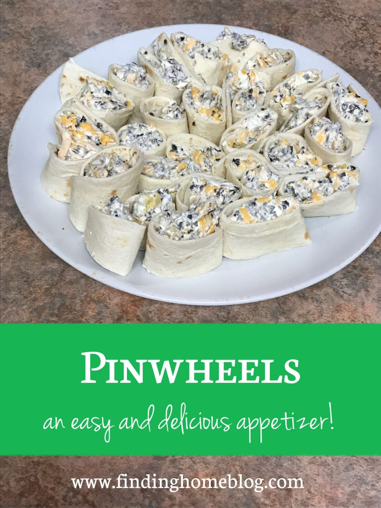 A plate of pinwheels - an appetizer made from tortillas rolled around a cream cheese filling