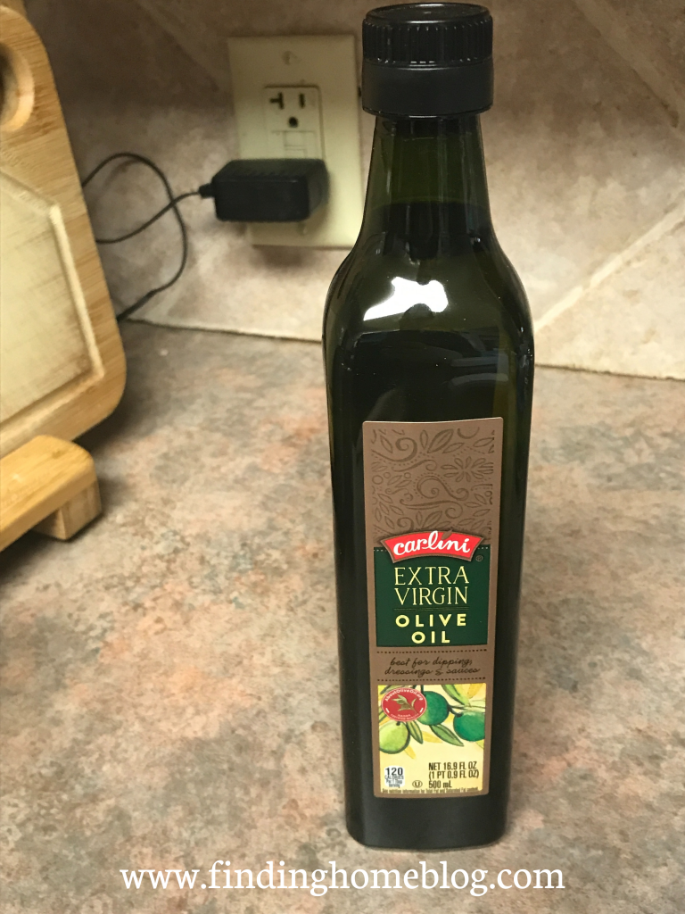 A container of olive oil
